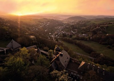 Lichtenberg castle in north-palatinate mountain country